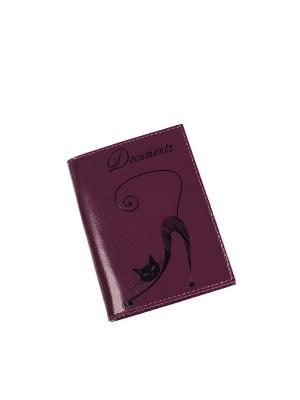 Бумажник водителя BEFLER. Цвет: фиолетовый