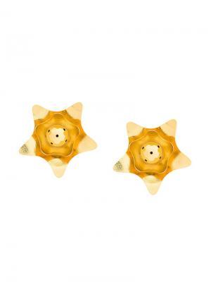 Серьги Kogi в форме цветка Paula Mendoza. Цвет: металлик