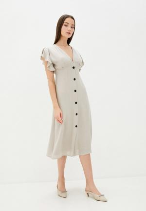 Платье Sweewe. Цвет: бежевый