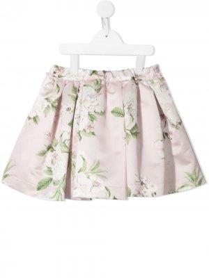 Юбка с цветочным принтом Piccola Ludo. Цвет: розовый