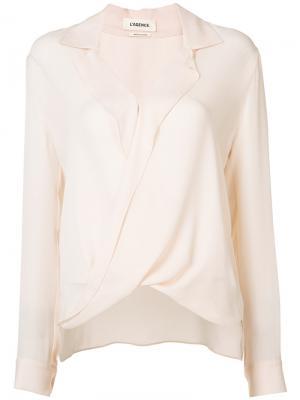 Рубашка с перекрученной деталью L'agence. Цвет: нейтральные цвета
