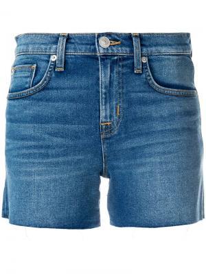 Джинсовые шорты  с необработанными краями Hudson. Цвет: синий