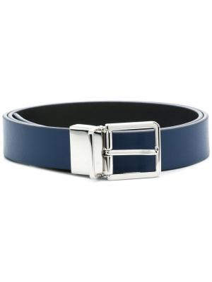 Adjustable buckle belt Paul Smith Black Label. Цвет: синий