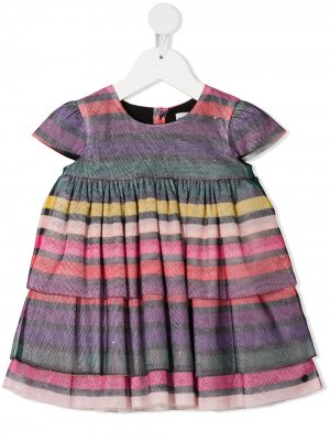 Striped ruffled dress Sonia Rykiel. Цвет: розовый