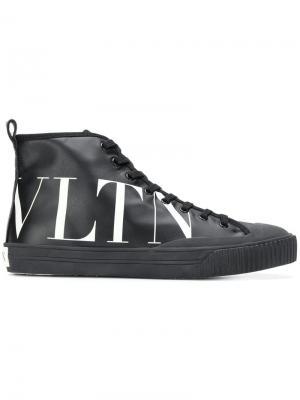 Кроссовки с принтом логотипа сбоку Valentino. Цвет: черный