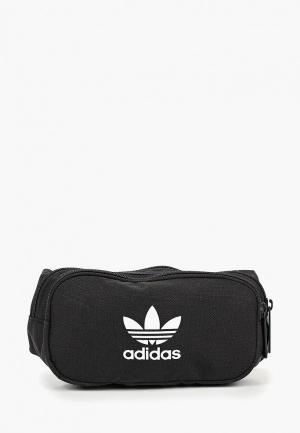 Сумка поясная adidas Originals. Цвет: черный