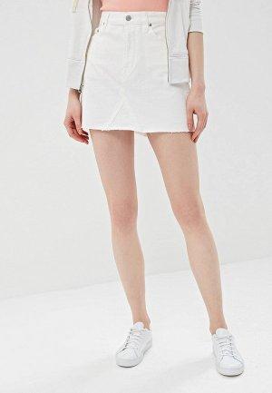 Юбка джинсовая Gap. Цвет: белый