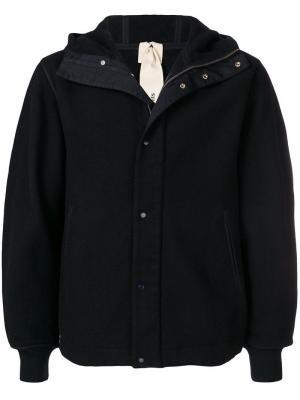 Куртка с капюшоном на молнии Ten C. Цвет: синий