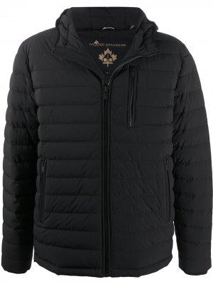 Стеганая куртка на молнии Moose Knuckles. Цвет: черный