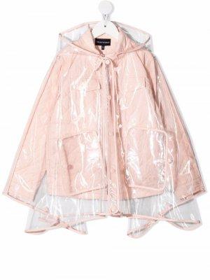 Непромокаемая куртка Emporio Armani Kids. Цвет: розовый