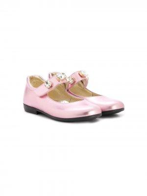 Декорированные туфли Мэри Джейн Monnalisa. Цвет: розовый