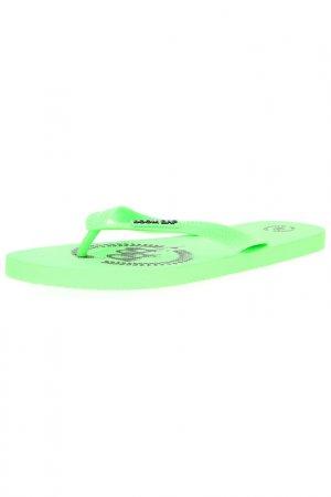 Шлепанцы BOOM BAP. Цвет: зеленый