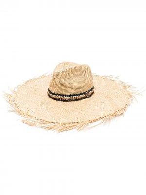Шляпа с бахромой catarzi. Цвет: нейтральные цвета
