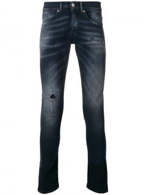 Выбеленные джинсы скинни Dondup. Цвет: синий