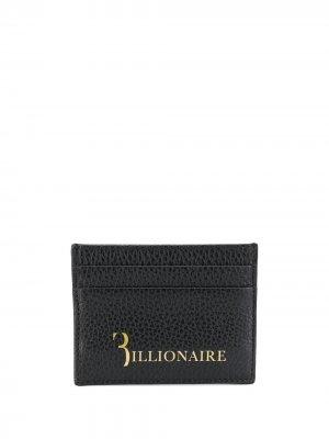 Картхолдер с логотипом Billionaire. Цвет: черный