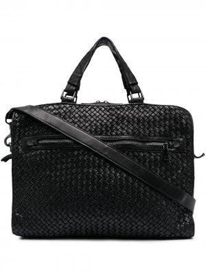 Плетеная сумка для ноутбука Officine Creative. Цвет: черный