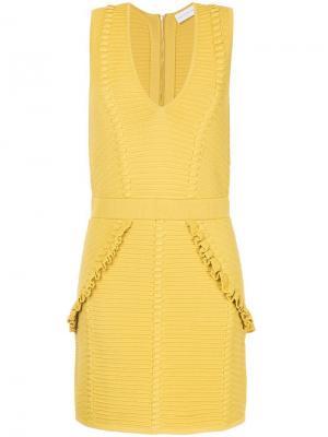 Короткое платье Ionian Rebecca Vallance. Цвет: желтый