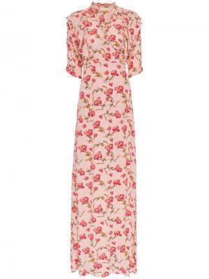 Платье с запахом и цветочным принтом By Timo. Цвет: розовый
