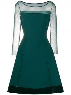 Платье Lisa с прозрачными рукавами Le Petite Robe Di Chiara Boni. Цвет: зеленый