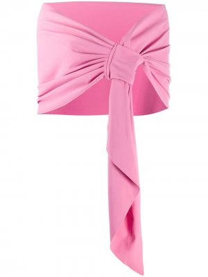 Шарф Eva из джерси Le Petite Robe Di Chiara Boni. Цвет: розовый