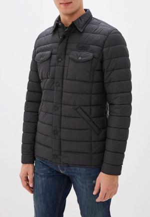 Куртка утепленная Aeronautica Militare. Цвет: черный