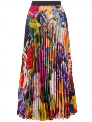Плиссированная юбка миди Mary Katrantzou. Цвет: разноцветный