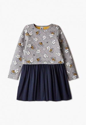 Платье Petit Bateau. Цвет: серый
