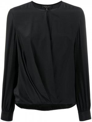 Блузка со сборками Rag & Bone. Цвет: черный