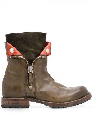 Ботинки на молнии Moma. Цвет: зеленый