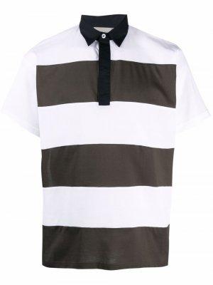 Рубашка поло в полоску Low Brand. Цвет: белый