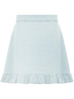 Джинсовая юбка Stessie Mads Nørgaard. Цвет: синий
