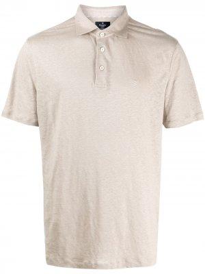 Рубашка-поло с вышитым логотипом Hackett. Цвет: нейтральные цвета