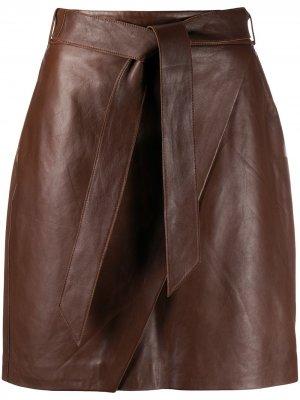 LAutre Chose юбка с запахом L'Autre. Цвет: коричневый
