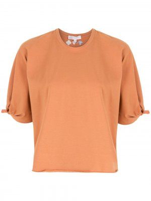 Блузка с завязками на рукавах Nk. Цвет: коричневый
