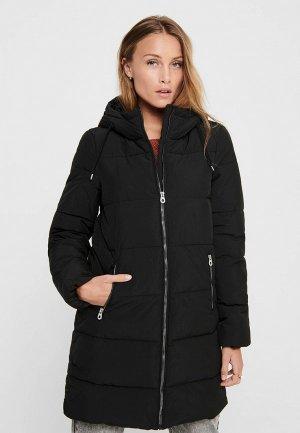 Куртка утепленная Only. Цвет: черный