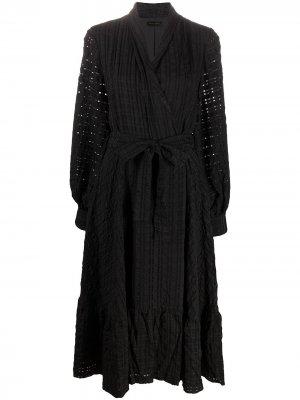 Платье миди с вышивкой Stine Goya. Цвет: черный
