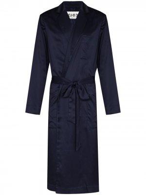 Длинный халат Home Robe CDLP. Цвет: синий