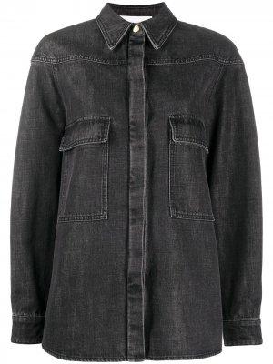 Джинсовая рубашка с длинными рукавами Alberta Ferretti. Цвет: серый