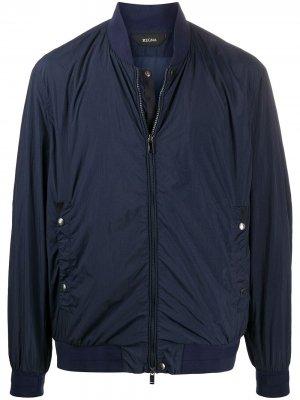 Куртка-бомбер Z Zegna. Цвет: синий