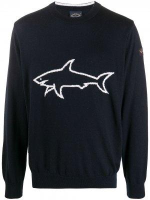 Джемпер тонкой вязки Paul & Shark. Цвет: синий