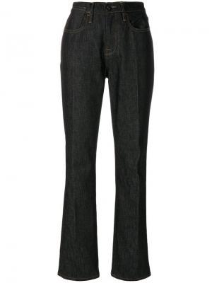 Прямые джинсы Le Raw FRAME. Цвет: синий