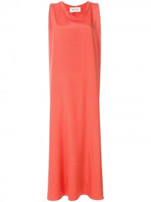 Вечернее платье мешковатого кроя без рукавов Valentino. Цвет: желтый