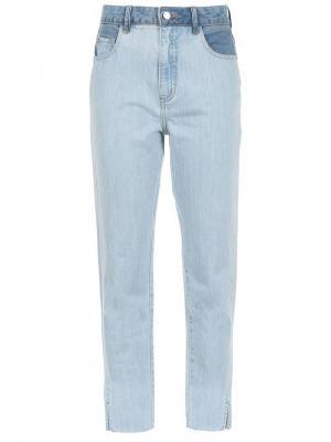 Прямые джинсы Nk Collection. Цвет: синий