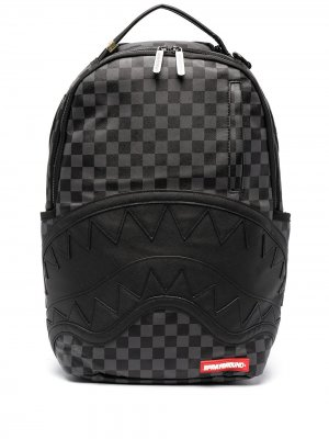 Клетчатый рюкзак Sprayground. Цвет: черный