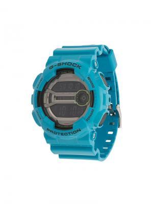 Электронные часы G-Shock. Цвет: синий