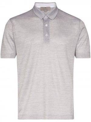 Трикотажная рубашка-поло Canali. Цвет: серый
