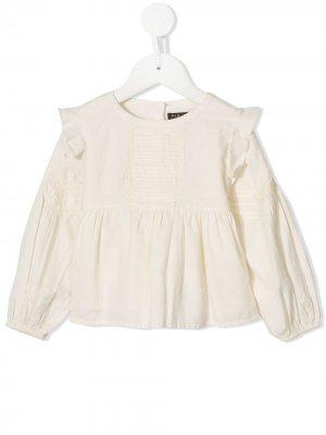 Блузка Marie со складками Velveteen. Цвет: белый