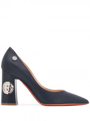Туфли-лодочки с логотипом Baldinini. Цвет: синий