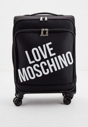 Чемодан Love Moschino. Цвет: черный