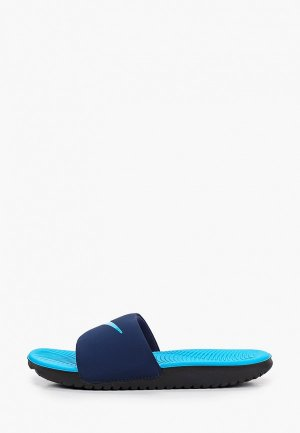 Сланцы Nike. Цвет: синий